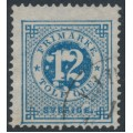 SWEDEN - 1877 12öre blue Ring Type, perf. 13, variety 'spots around 12', used – Facit # 32b