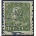 SWEDEN - 1929 40öre yellowish olive-green King Gustav V (type I), used – Facit # 189Aa