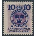 SWEDEN - 1916 10+FYRTIO öre on 24öre red-lilac Postage Due Landstorm II overprint, used – Facit # 121b