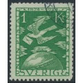 SWEDEN - 1924 1Kr. green UPU Anniversary, used – Facit # 223