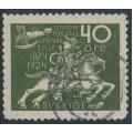 SWEDEN - 1924 40öre olive-green UPU Anniversary, used – Facit # 218