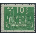SWEDEN - 1924 10öre green World Postal Congress with lines watermark, used – Facit # 197cx
