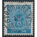 SWEDEN - 1858 12öre blue Coat of Arms, used – Facit # 9c3