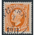 SWEDEN - 1911 25öre orange Oscar II, no watermark, used – Facit # 67
