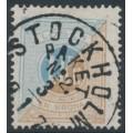 SWEDEN - 1874 1Kr light blue/orange-brown Postage Due, perf. 14, used – Facit # L10a