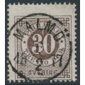 SWEDEN - 1872 30öre black-brown Ring Type, perf. 14, used – Facit # 25j