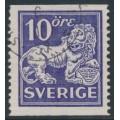 SWEDEN - 1934 10öre ultramarine-violet Lion, perf. 13 two sides, no watermark, used – Facit # 146Ea