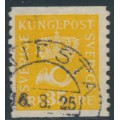 SWEDEN - 1922 35öre yellow Crown & Posthorn with lines + KPV watermark, used – Facit # 156cxz