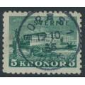 SWEDEN - 1931 5Kr dark green Stockholm Castle on toned paper, used – Facit # 233a