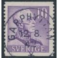 SWEDEN - 1939 10öre violet King Gustav V, large numerals, perf. 2-sides, used – Facit # 273A²