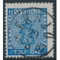 SWEDEN - 1858 12öre blue Coat of Arms, used – EKSJÖ 29 III 1867 stämpel (F-län)