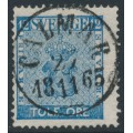 SWEDEN - 1858 12öre blue Coat of Arms, used – CALMAR 27 XI 1865 stämpel (H-län)