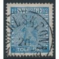 SWEDEN - 1858 12öre blue Coat of Arms, used – CARLSKRONA 20 IX 1870 stämpel (K-län)