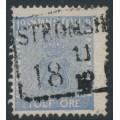 SWEDEN - 1858 12öre pale ultramarine Coat of Arms, used – STRÖMSHOLM stämpel (U-län)