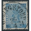 SWEDEN - 1858 12öre blue Coat of Arms, used – GÖLINGSTORP 26 IV 1871 stämpel (P-län)