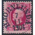 SWEDEN - 1891 10öre bright carmine Oscar II, used – BJÖRNLUNDA 7 XI 1904 stämpel (D-län)