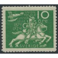 SWEDEN - 1924 10öre green UPU Anniversary with lines watermark, MNH – Facit # 212cx