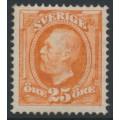 SWEDEN - 1896 25öre orange Oscar II, crown watermark, mint hinged – Facit # 57b