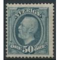 SWEDEN - 1891 50öre blue-grey Oscar II, crown watermark, mint hinged – Facit # 59c