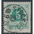 SWEDEN - 1872 5öre dull bluish green Ring Type, perf. 14, used – Facit # 19b