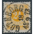 SWEDEN - 1872 24öre yellowish orange Ring Type, perf. 14, used – Facit # 24d
