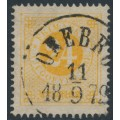 SWEDEN - 1872 24öre orange-yellow Ring Type, perf. 14, used – Facit # 24e