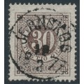 SWEDEN - 1872 30öre blackish brown Ring Type, perf. 14, used – JERNSKOG 18 II 1877 stämpel (S-län)