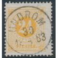 SWEDEN - 1878 24öre orange Ring Type, perf. 13, used – UNDROM 30 V 1883 stämpel (Y-län)