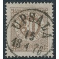 SWEDEN - 1877 30öre brown Ring Type, perf. 13, used – Facit # 35a