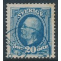 SWEDEN - 1891 20öre ultramarine Oscar II (type I), used – blue WERNAMO stämpel (F-län)