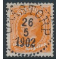 SWEDEN - 1896 25öre reddish orange Oscar II, used – Facit # 57a