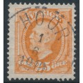 SWEDEN - 1896 25öre dull brown-orange Oscar II, used – Facit # 57e