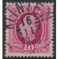 SWEDEN - 1891 10öre carmine Oscar II, used – KLINTEN 16 XI 1909 stämpel (B-län)
