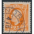 SWEDEN - 1911 25öre orange Oscar II, no watermark, used – NORRVIKEN stämpel (B-län)
