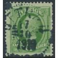 SWEDEN - 1891 5öre green Oscar II, used – UTTRAN 17 X 1910 stämpel (B-län)
