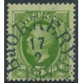 SWEDEN - 1891 5öre green Oscar II, used – BJÖRKERYD 17 II 1907 cancel (K-län)