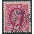 SWEDEN - 1891 10öre carmine Oscar II, used – HYLLINGE GRUFVA 3 XII 1910 stämpel (L-län)