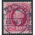 SWEDEN - 1891 10öre carmine Oscar II, used – HÄSSLEHOLM 15 XII 1916 cancel (L-län)