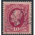 SWEDEN - 1891 10öre carmine Oscar II, used – SANKT OLOF stämpel (L-län)