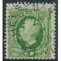 SWEDEN - 1891 5öre green Oscar II, used – HELSINGBORG KÄRNAN 24 VI 1903 stämpel (M-län)