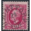 SWEDEN - 1891 10öre carmine Oscar II, used – HJORTTORP 29 IV 1901 stämpel (P-län)