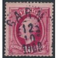SWEDEN - 1891 10öre carmine Oscar II, used – GARN 12 X 1908 stämpel (P-län)