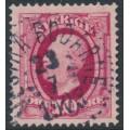 SWEDEN - 1891 10öre carmine Oscar II, used – VESTRA BODARNE 23 VII 1908 stämpel (P-län)