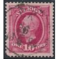 SWEDEN - 1891 10öre carmine Oscar II, used – EK 26 IX 1894 stämpel (R-län)