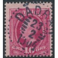 SWEDEN - 1891 10öre carmine Oscar II, used – DÅDRAN 23 II 1904 stämpel (W-län)