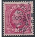 SWEDEN - 1891 10öre carmine Oscar II, used – MÄSSBACKEN stämpel (W-län)