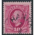 SWEDEN - 1891 10öre carmine Oscar II, used – HAMRA stämpel (X-län)