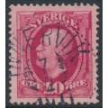 SWEDEN - 1891 10öre carmine Oscar II, used – INNERVIK 7 IV 1911 stämpel (AC-län)
