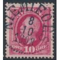 SWEDEN - 1891 10öre carmine Oscar II, used – NIEMIFORS 8 X 1898 stämpel (BD-län)