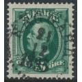 SWEDEN - 1891 5öre green Oscar II, used – RÅGGÄRD 21 XII 1895 stämpel (P-län)